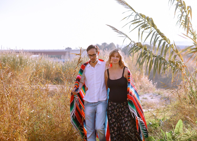 Sesión fotográfica a embarazada y pareja