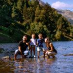 Fotografías familiares en la montaña.